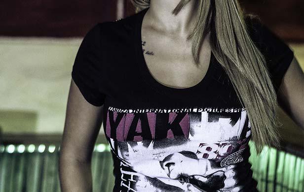 Yakuza Frauen schwarzes Shirt
