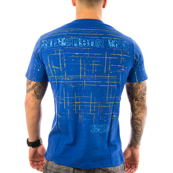 Neighbor Inc Herren T-Shirt 11- 9 dunkelblau