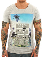 Stitch & Soul Herren Shirt 22200A grey XXL