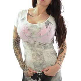 Lonsdale Shirt Ladies 115597 off white XS