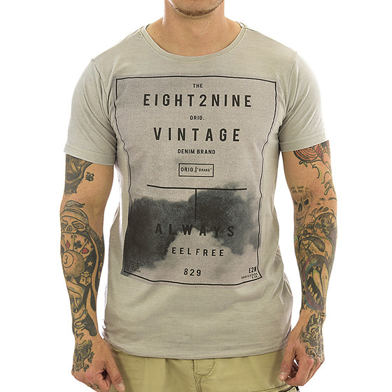 Eight2nine Shirt middle grey 20579A