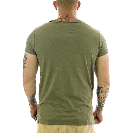 Sky Rebel Herren Shirt green 596 basic S