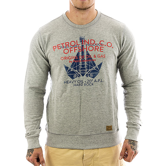 Petrol Industries Sweatshirt SWR 383 grau