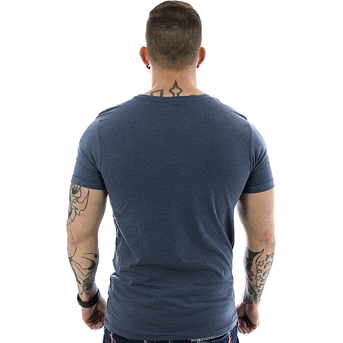Sublevel Herren T-Shirt 20729 middle blue