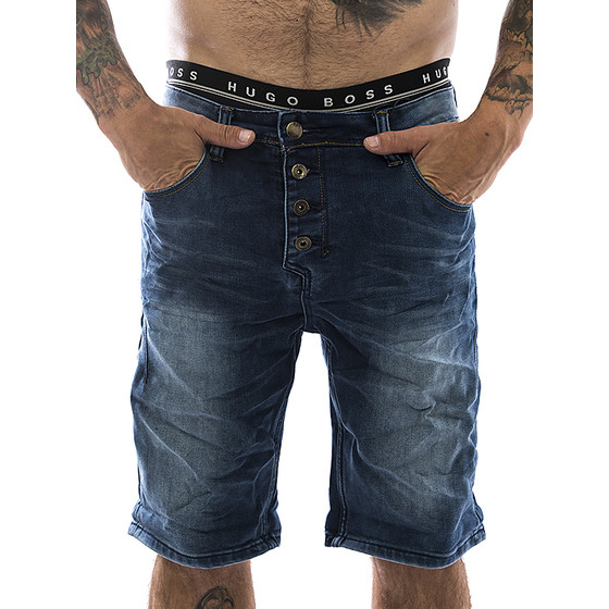 Sky Rebel Jogg Jeans Short 1104 blau 1