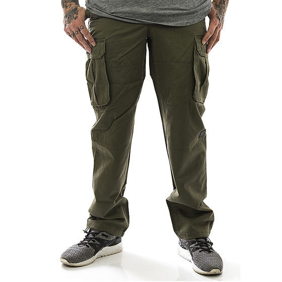 Pelle Pelle Cargohose Olive Re Up Twill 1