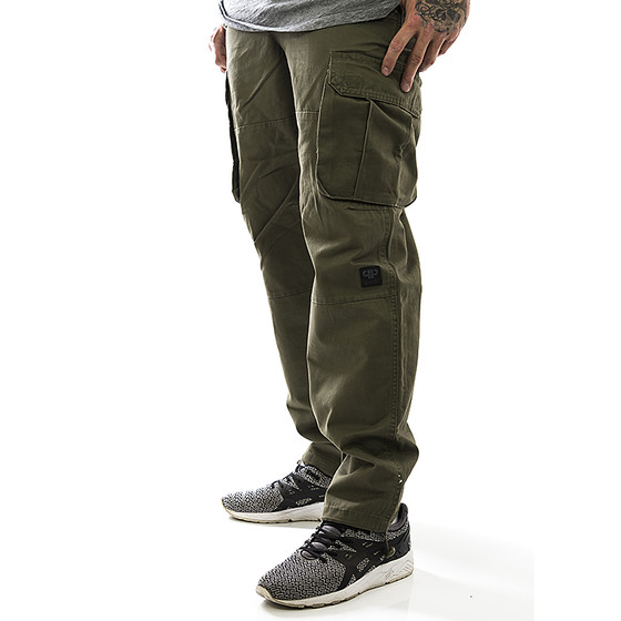 Pelle Pelle Cargohose Olive Re Up Twill 2