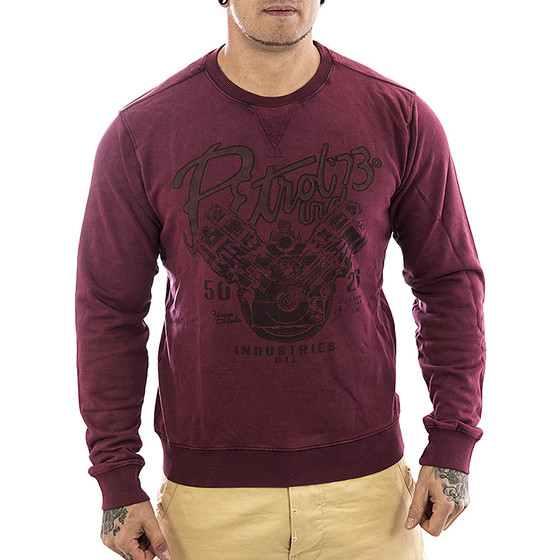 Petrol Industries Sweatshirt SWR 331 burgundy 1