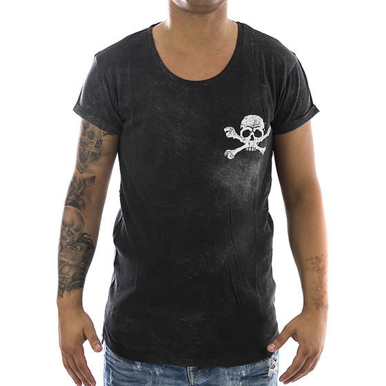 Trueprodigy T-Shirt Skeletor 1082143 anthrazite 11