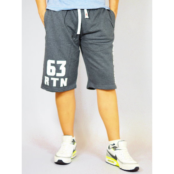 Rusty Neal Herren Short R-7512 anthrazit Sweat L