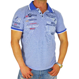 Red Bridge Herren Polo T-Shirt RB2046 blue mel 1