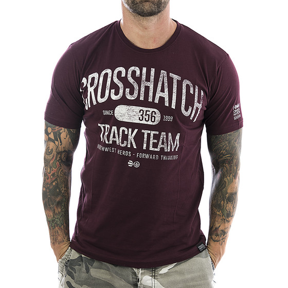 Crosshatch T-Shirt Crosgrove 2568 deep red 1