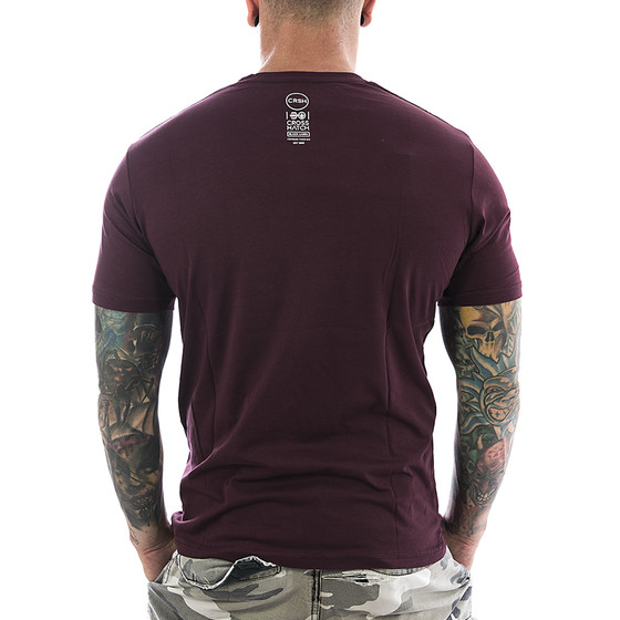 Crosshatch T-Shirt Crosgrove 2568 deep red 2