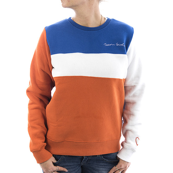 Sublevel Sweatshirt Colourblock 1989 orange 11