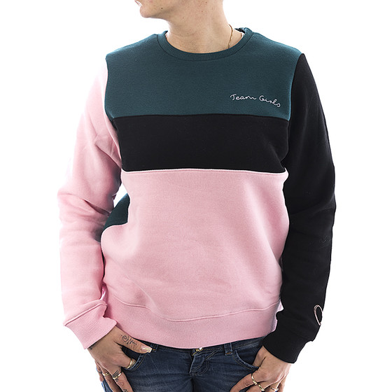 Sublevel Sweatshirt Colourblock 1989 rose 11
