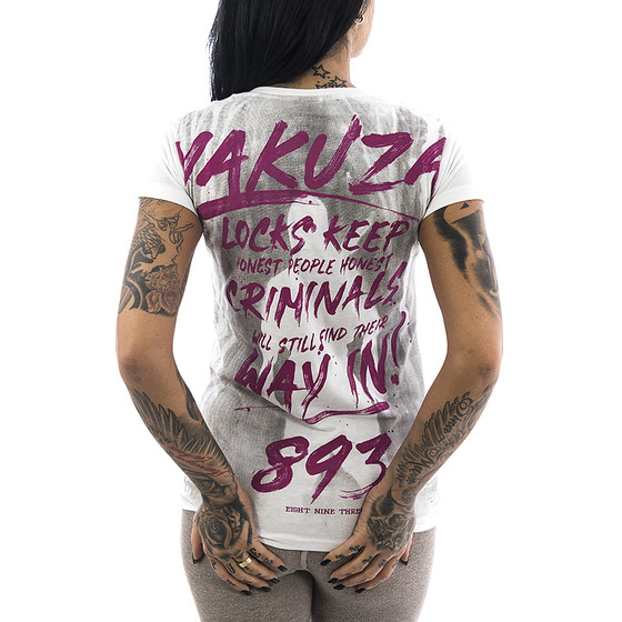 Yakuza T-Shirt Lock Up 13125 weiß 1