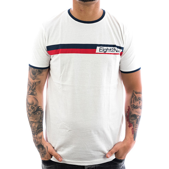 Eight2nine Shirt Logo Stripe 1117 white 1-1
