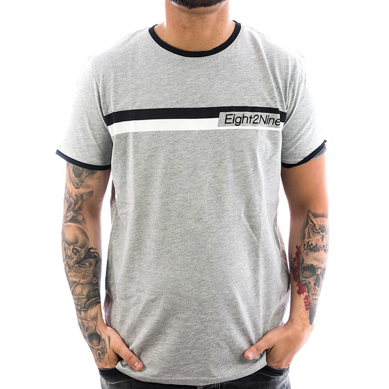 Eight2nine Shirt Logo Stripe 1117 light grey 1-1