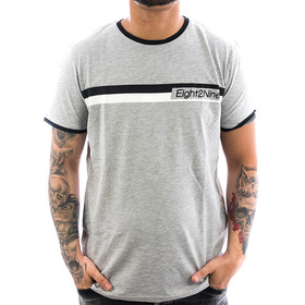 Eight2nine Shirt Logo Stripe 1117 light grey 1