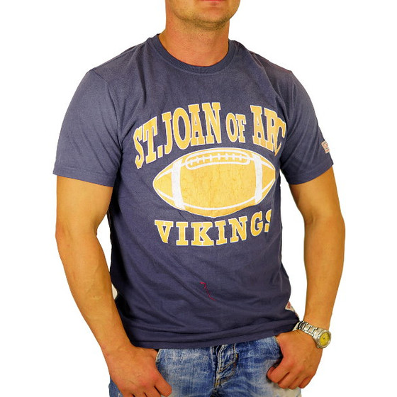 John Fletch T-Shirt Herren 5229 navy Vintage Football S