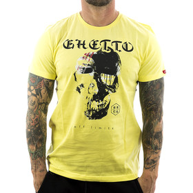 Ghetto off Limits Shirt Robo Skull 190305 gelb 1
