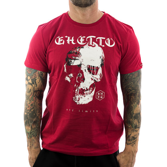 Ghetto off Limits Shirt Robo Skull 190305 red 11