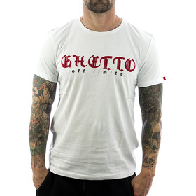 Ghetto off Limits Shirt Embro 190310 weiß 1