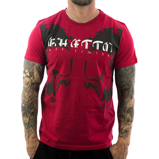 Ghetto off Limits Shirt Skul Half 190307 red 11