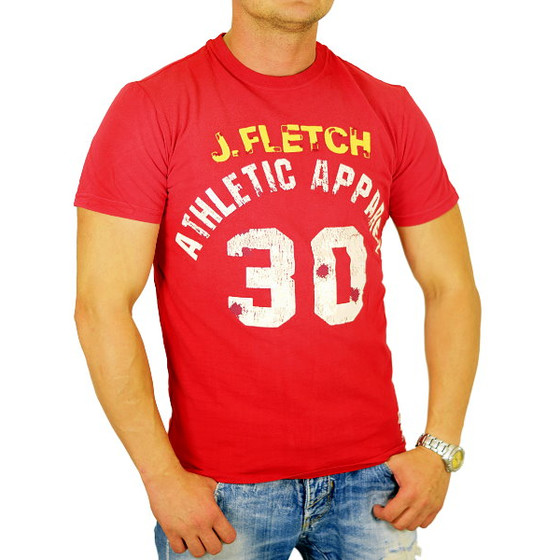 John Fletch T-Shirt Herren 5214 rot Apparel