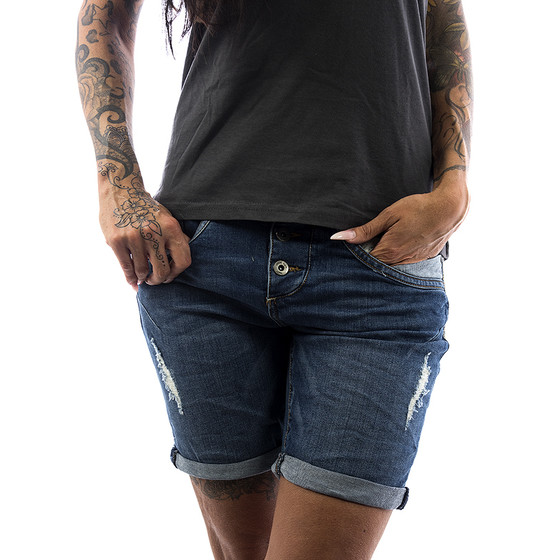 Fresh Made Shorts Jeans 61825 dark blue 1