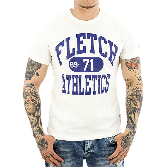 John Fletch T-Shirt Herren 5222 weiss Athletics
