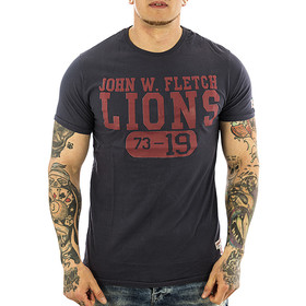 John Fletch T-Shirt Herren 5216 faded navy Lion