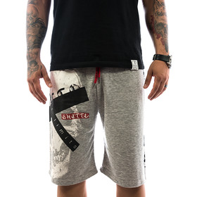 Ghetto off Limits Shorts Skull 190419 grey 11