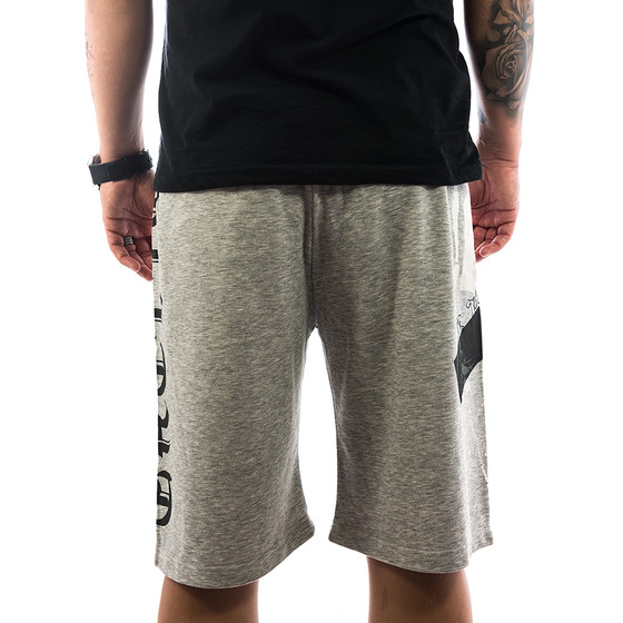 Ghetto off Limits Shorts Skull 190419 grey 3