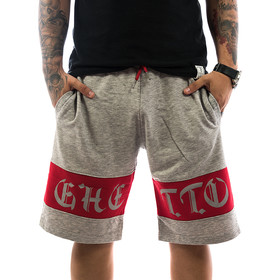 Ghetto off Limits Shorts Stripe 190421 grey 1