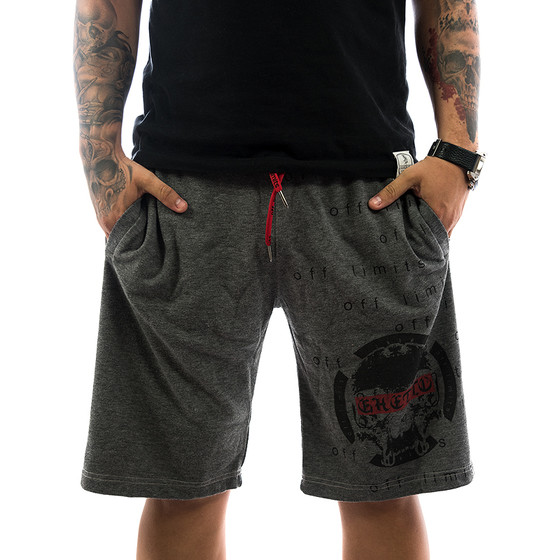 Ghetto off Limits Shorts Limitless 190422 grey 1