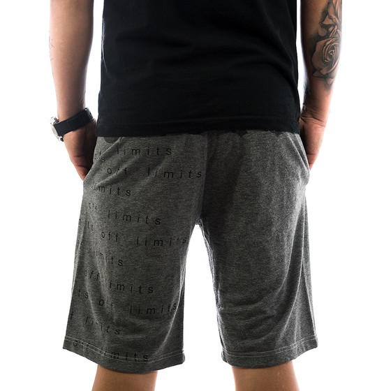 Ghetto off Limits Shorts Limitless 190422 grey 2
