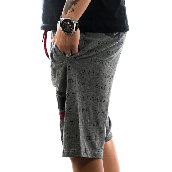 Ghetto off Limits Shorts Limitless 190422 grey 3