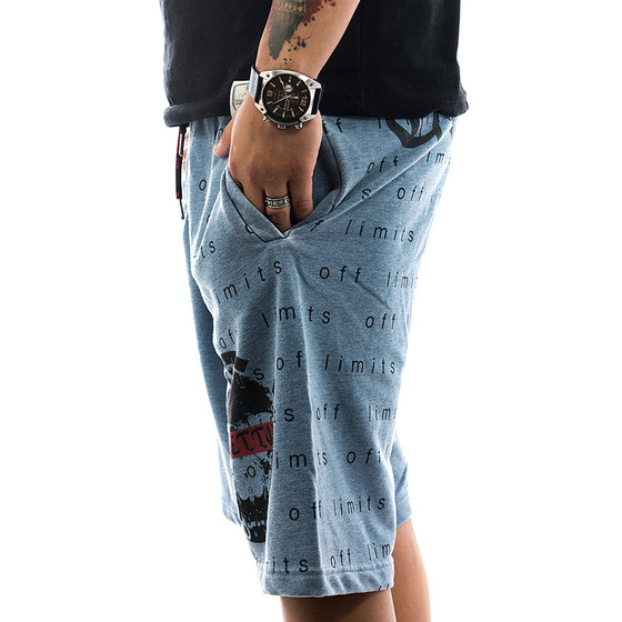 Ghetto off Limits Shorts Limitless 190422 blue 3