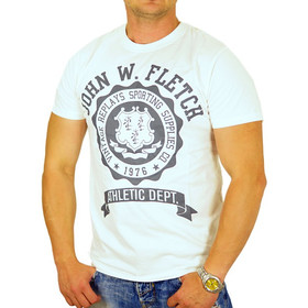 John Fletch T-Shirt Herren 5232 weiß Supplies