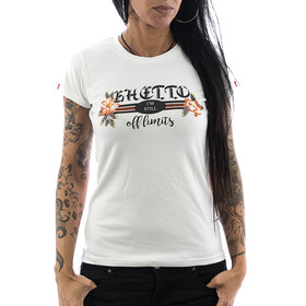 Ghetto off Limits Shirt Ladies 190415 weiß XS
