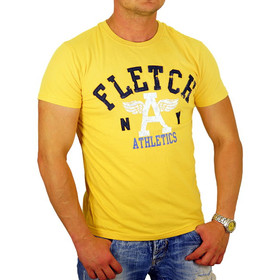 John Fletch T-Shirt Herren 5213 deep yellow Vintage