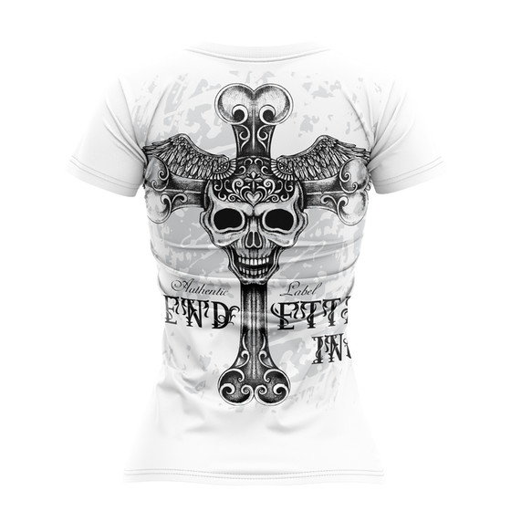 Vendetta Inc. Shirt Free Skull VD-0003 weiss 1