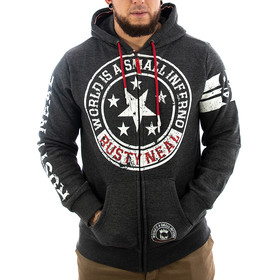 Rusty Neal Sweatjacke World anthrazit M