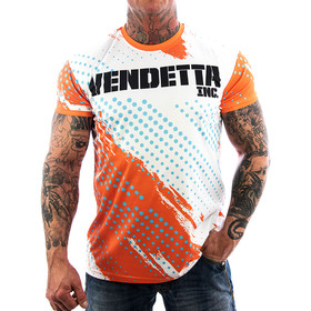 Vendetta Inc.Mesh Allover Shirt weiß 1077 1