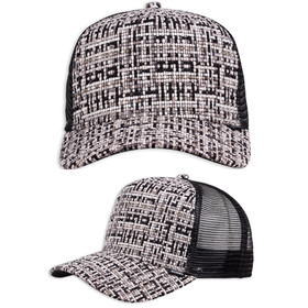 Djinns Trucker Cap Bubble Tweed schwarz 1