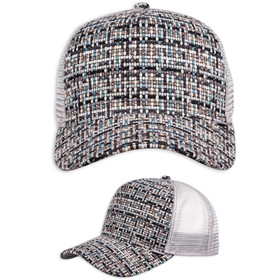 Djinns Trucker Cap Bubble Tweed hellgrau 1