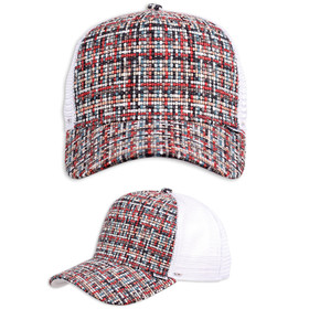 Djinns Trucker Cap Bubble Tweed weiß 1