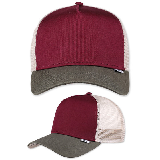 Djinns Trucker Cap Block wine 1