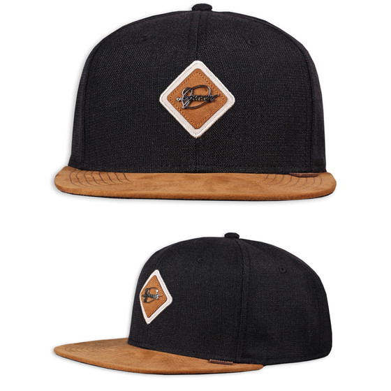 Djinns Snapback Cap 6 Panel Patch schwarz 1